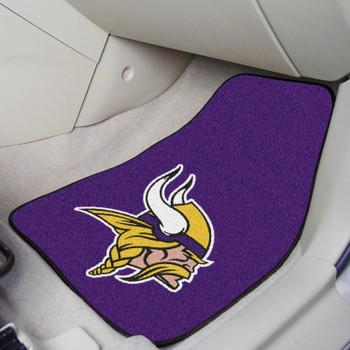 Minnesota Vikings Purple Carpet Car Mat, Set of 2