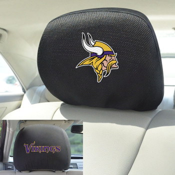 Minnesota Vikings Car Headrest Cover, Set of 2