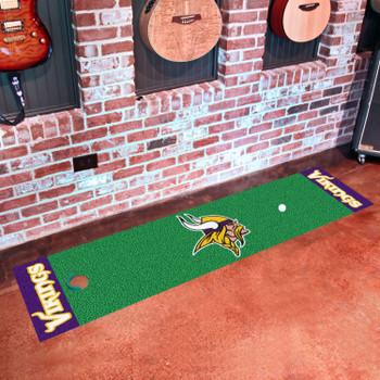 "18"" x 72"" Minnesota Vikings Putting Green Runner Mat"