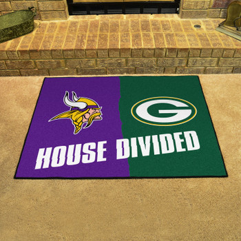 """33.75"""" x 42.5"""" Vikings / Packers House Divided Rectangle Mat"""