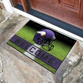 "18"" x 30"" Minnesota Vikings Purple Crumb Rubber Door Mat"