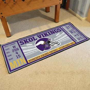 "30"" x 72"" Minnesota Vikings Ticket Rectangle Runner Mat"