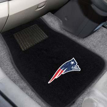 New England Patriots Embroidered Black Car Mat, Set of 2