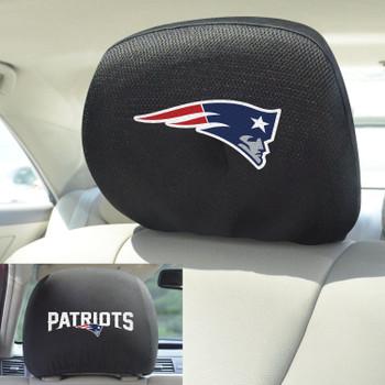 New England Patriots Car Headrest Cover, Set of 2