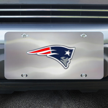 New England Patriots Diecast Stainless Steel License Plate