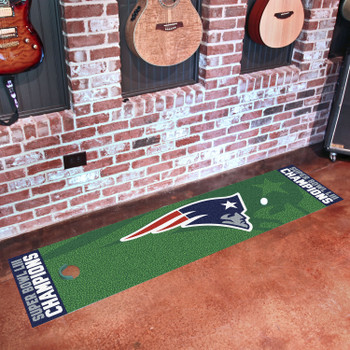 New England Patriots Super Bowl LIII Champions Putting Green Runner Mat
