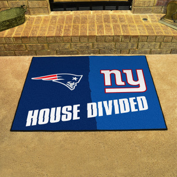 """33.75"""" x 42.5"""" Patriots / Giants House Divided Rectangle Mat"""
