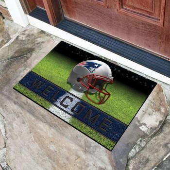 """18"""" x 30"""" New England Patriots Navy Crumb Rubber Door Mat"""