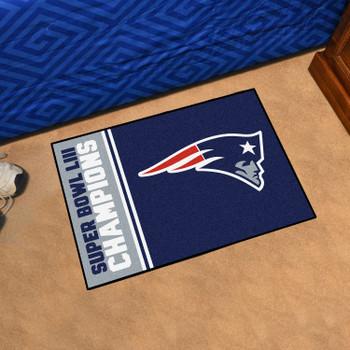 "19"" x 30"" New England Patriots Super Bowl LIII Champions Starter Mat"