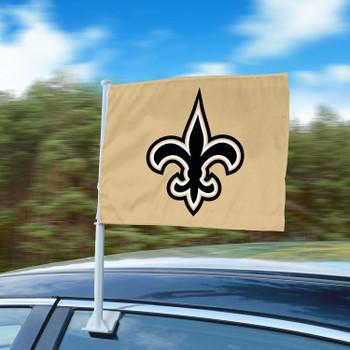 """11"""" x 14"""" New Orleans Saints Gold Car Flag"""