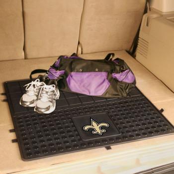 """31"""" New Orleans Saints Heavy Duty Vinyl Cargo Trunk Mat"""