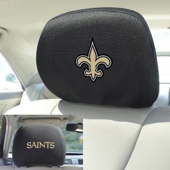 New Orleans Saints Car Headrest Cover, Set of 2