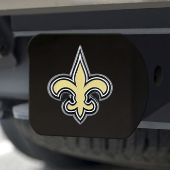 New Orleans Saints Hitch Cover - Gold on Black