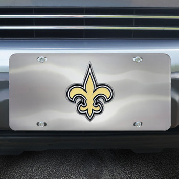 New Orleans Saints Diecast Stainless Steel License Plate