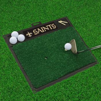 "20"" x 17"" New Orleans Saints Golf Hitting Mat"