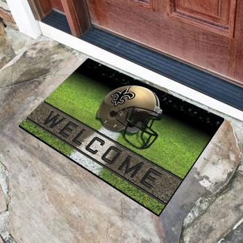 "18"" x 30"" New Orleans Saints Black Crumb Rubber Door Mat"