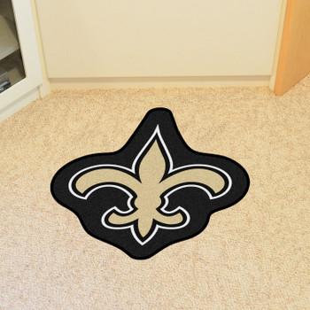 New Orleans Saints Black Mascot Mat