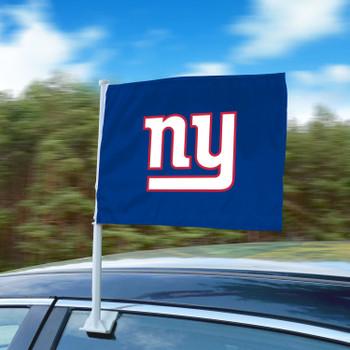 """11"""" x 14"""" New York Giants Blue Car Flag"""