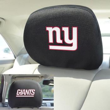 New York Giants Car Headrest Cover, Set of 2