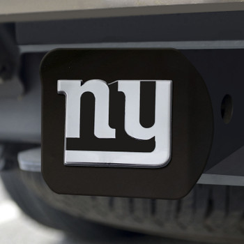 New York Giants Hitch Cover - Chrome on Black