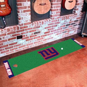 """18"""" x 72"""" New York Giants Putting Green Runner Mat"""