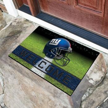 """18"""" x 30"""" New York Giants Blue Crumb Rubber Door Mat"""