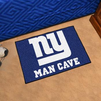 """19"""" x 30"""" New York Giants Man Cave Starter Blue Rectangle Mat"""