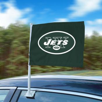 "11"" x 14"" New York Jets Green Car Flag"