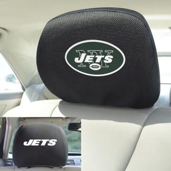 New York Jets Car Headrest Cover, Set of 2