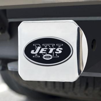 New York Jets Hitch Cover - Chrome on Chrome