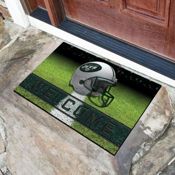 """18"""" x 30"""" New York Jets Green Crumb Rubber Door Mat"""