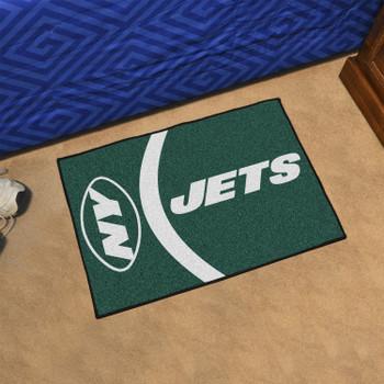 """19"""" x 30"""" New York Jets Uniform Green Rectangle Starter Mat"""