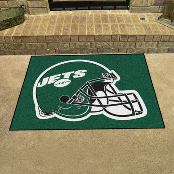 """33.75"""" x 42.5"""" New York Jets All Star Green Rectangle Rug"""