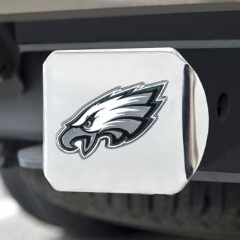 Philadelphia Eagles Hitch Cover - Green on Chrome