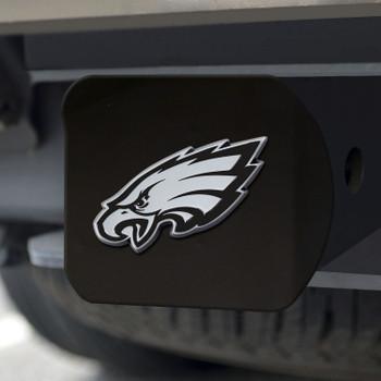 Philadelphia Eagles Hitch Cover - Chrome on Black