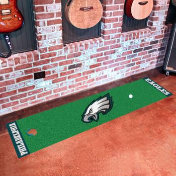 """18"""" x 72"""" Philadelphia Eagles Putting Green Runner Mat"""
