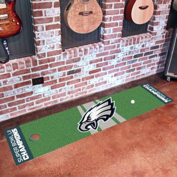 Philadelphia Eagles Super Bowl LII Champions Putting Green Runner Mat