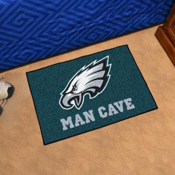 """19"""" x 30"""" Philadelphia Eagles Man Cave Starter Green Rectangle Mat"""
