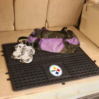 "31"" Pittsburgh Steelers Heavy Duty Vinyl Cargo Trunk Mat"