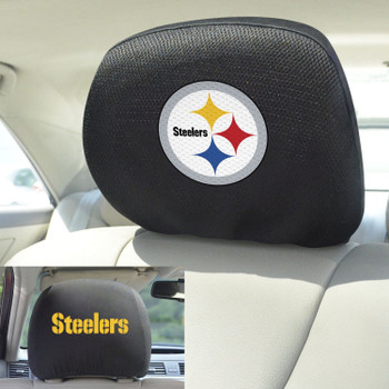 Pittsburgh Steelers Car Headrest Cover, Set of 2