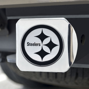 Pittsburgh Steelers Hitch Cover - Chrome on Chrome