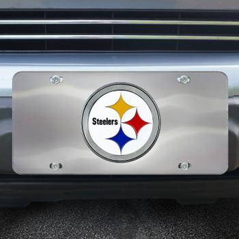 Pittsburgh Steelers Diecast Stainless Steel License Plate