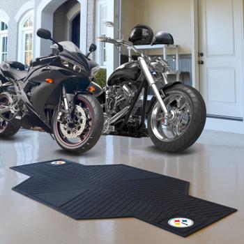 "82.5"" x 42"" Pittsburgh Steelers Motorcycle Mat"