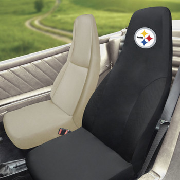 Pittsburgh Steelers Black Car Seat Cover