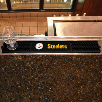 Pittsburgh Steelers with Logo Vinyl Drink Mat
