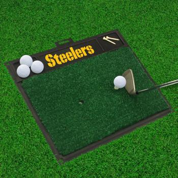 "20"" x 17"" Pittsburgh Steelers Golf Hitting Mat"