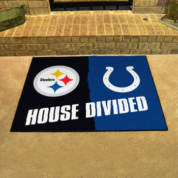 """33.75"""" x 42.5"""" Steelers / Colts House Divided Rectangle Mat"""