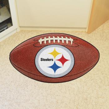 "20.5"" x 32.5"" Pittsburgh Steelers Football Shape Mat"