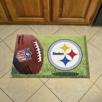"19"" x 30"" Pittsburgh Steelers Rectangle Photo Scraper Mat"