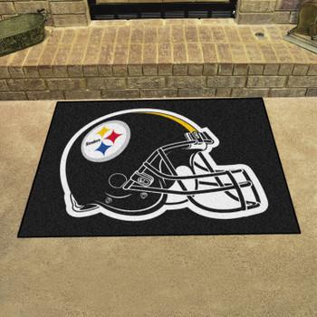 "33.75"" x 42.5"" Pittsburgh Steelers All Star Black Rectangle Rug"